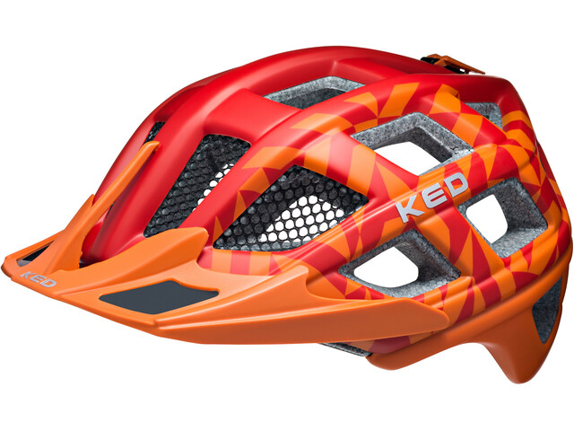 KED Crom Helmet Red Orange Matt